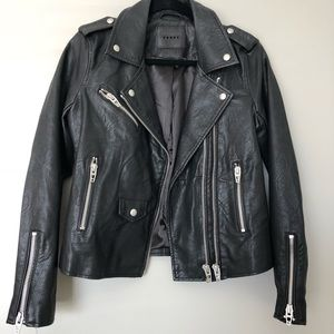 Blank NYC black leather moto jacket small -worn 2x